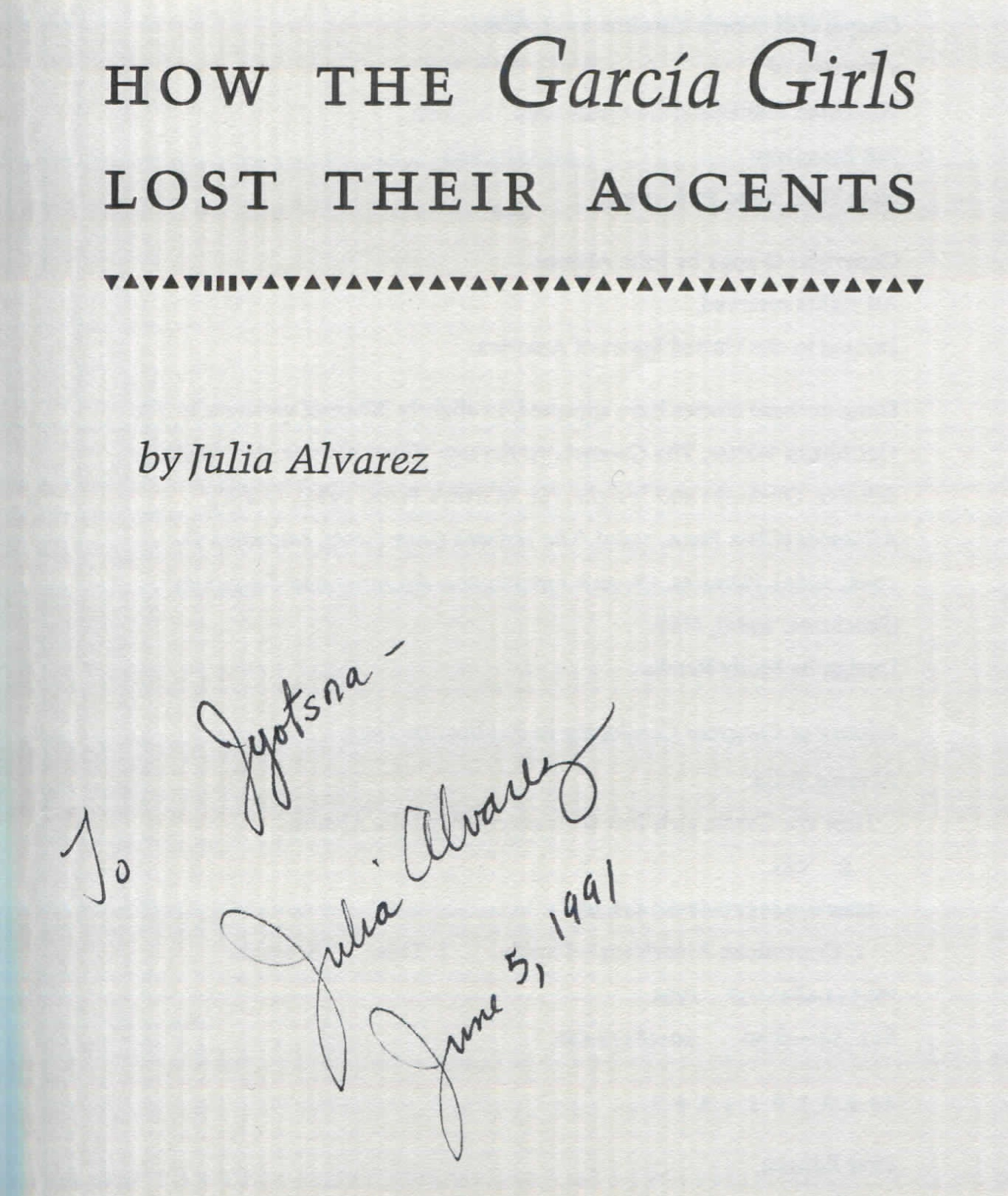 how the garcia girls lost their Complete summary of julia alvarez's how the garcia girls lost their accents enotes plot summaries cover all the significant action of how the garcia girls lost their.